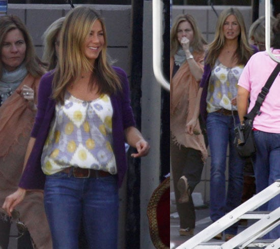 Photos of Jennifer Aniston on the Set of The Baster in LA