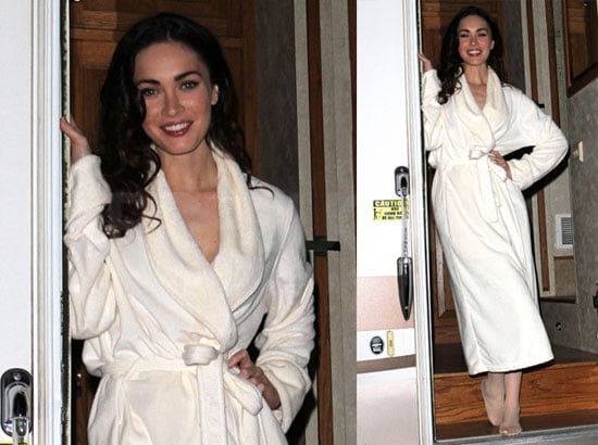 Photos of Megan Fox Exiting Her Trailer on the Set of Passion Play in New Mexico