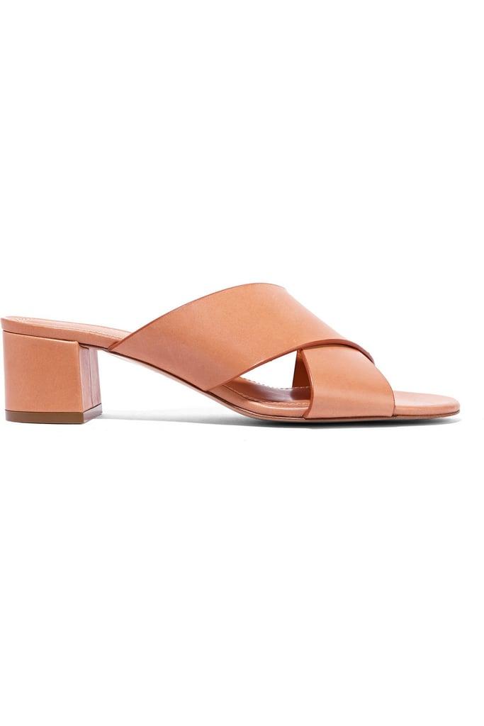 Mansur Gavriel Leather Mules ($475)
