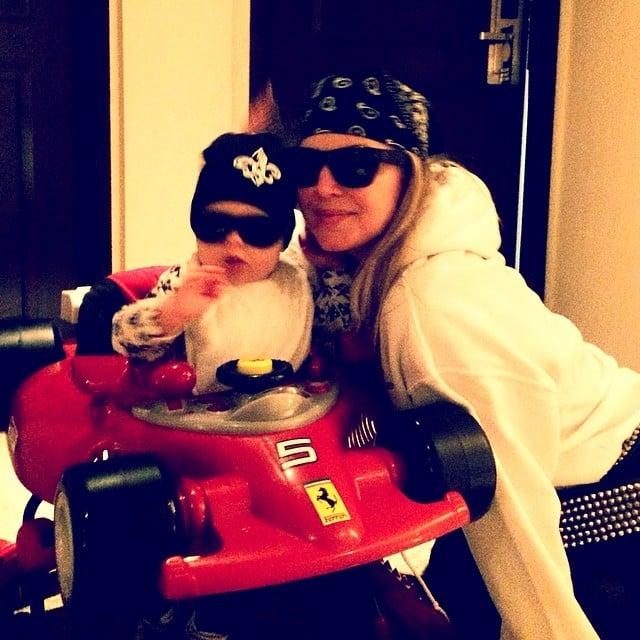 "Fergie and her son, Axl Duhamel, were ""#roaddogz4life"" after Josh went to set. Source: Instagram user fergie"