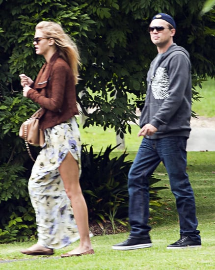 Erin Heatherton and Leonardo DiCaprio took a stroll in Sydney.
