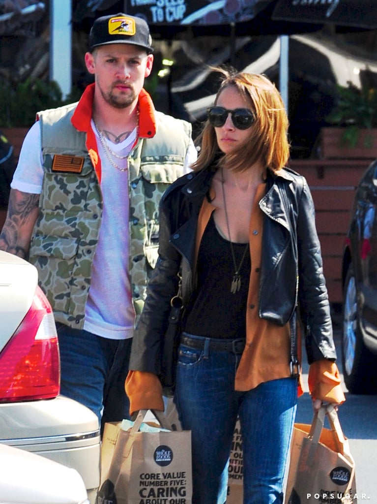 Nicole Richie and her husband, Joel Madden, went grocery shopping in LA together.