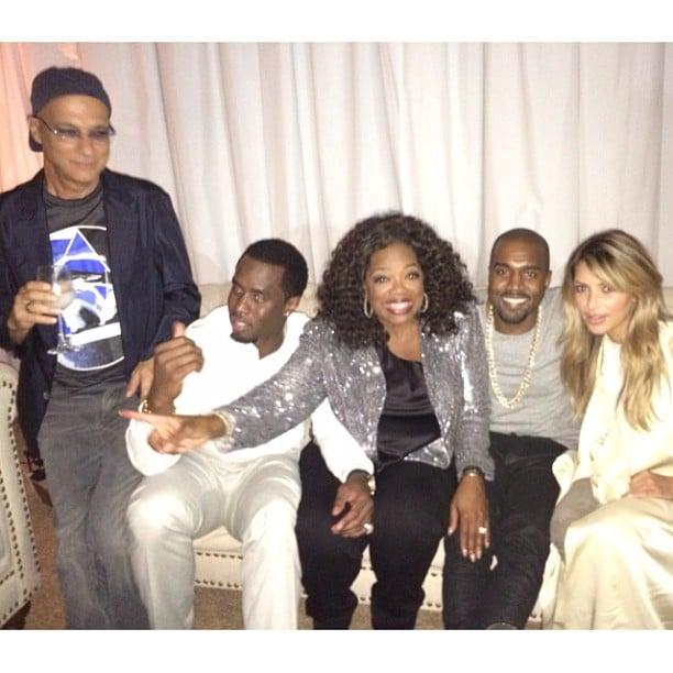 Kim Kardashian and Kanye West linked up with Oprah Winfrey and Diddy. Source: Instagram user kimkardashian