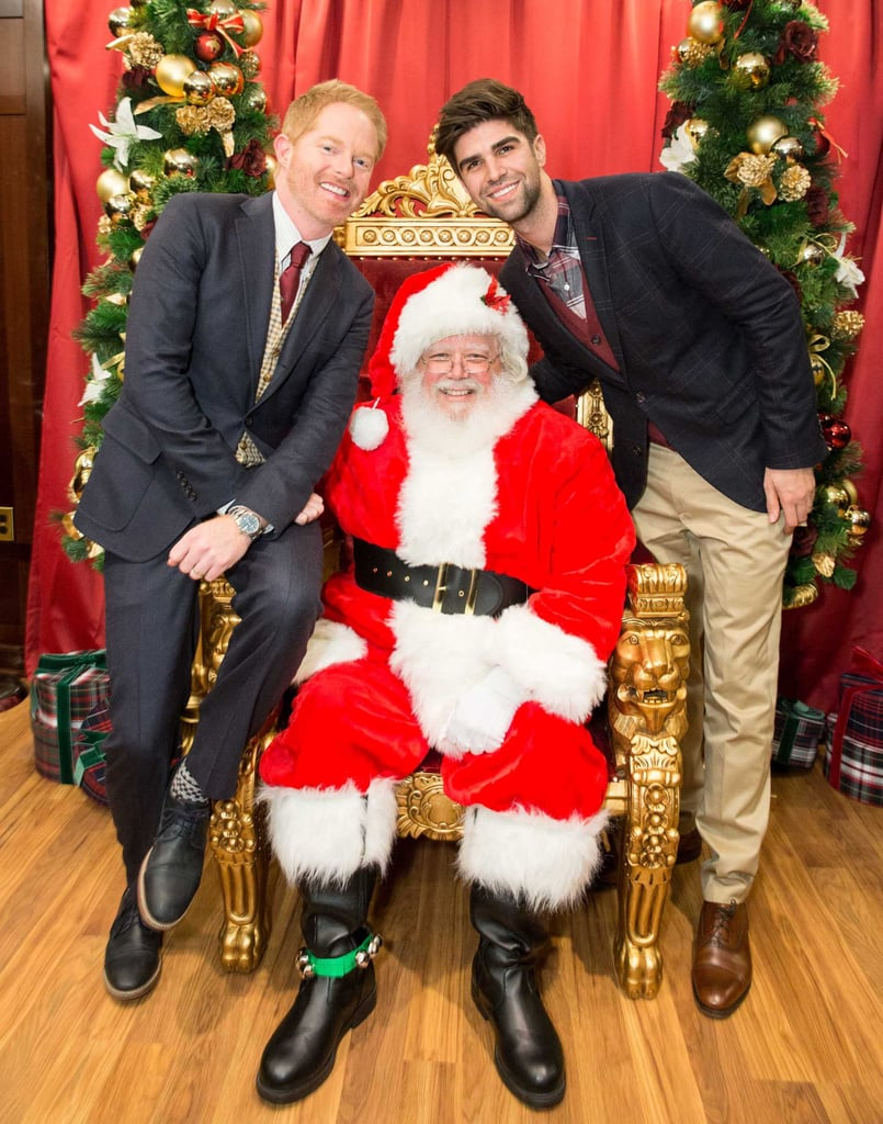 Modern Family star Jesse Tyler Ferguson and his husband, Justin Mikita, snapped an adorable picture with Santa at the St. Jude Children's Research Hospital benefit in San Francisco.