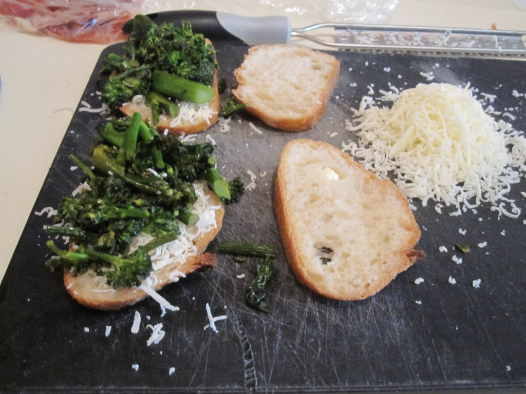 Mozzarella With Crispy Proscuitto and Broccoli Rabe