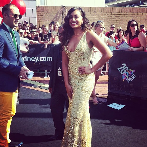 Jessica Mauboy was looking every inch the Aussie pop princess she is in this gold number at the ARIAs.