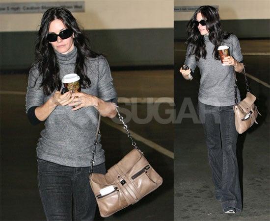Photos of Courteney Cox Grabbing Coffee in LA