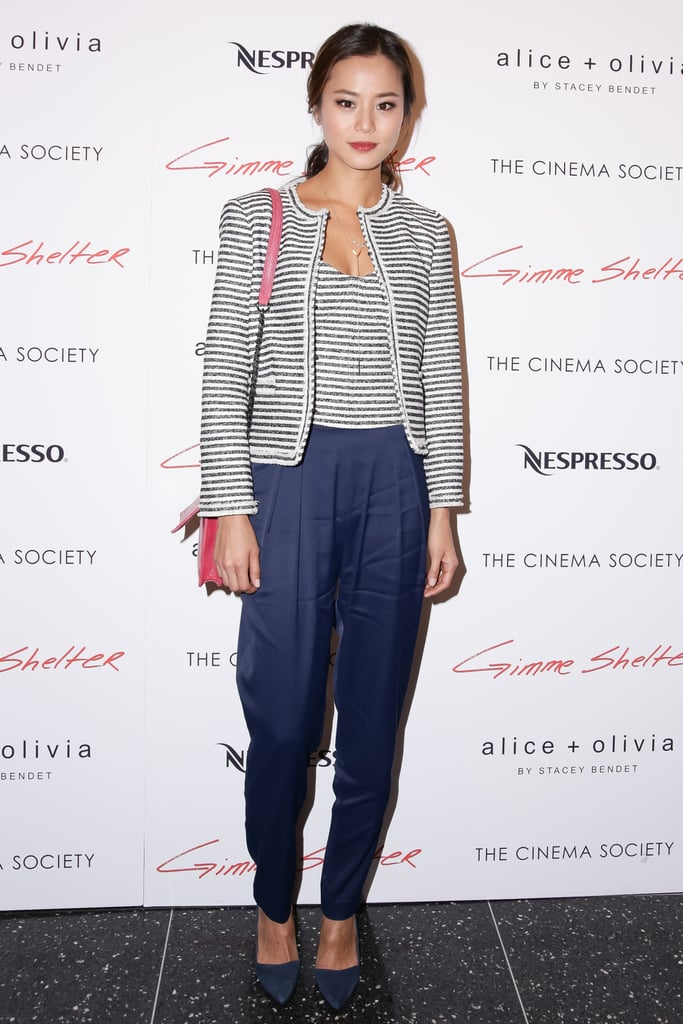 Jamie Chung at Alice + Olivia and the Cinema Society's screening of Gimme Shelter.