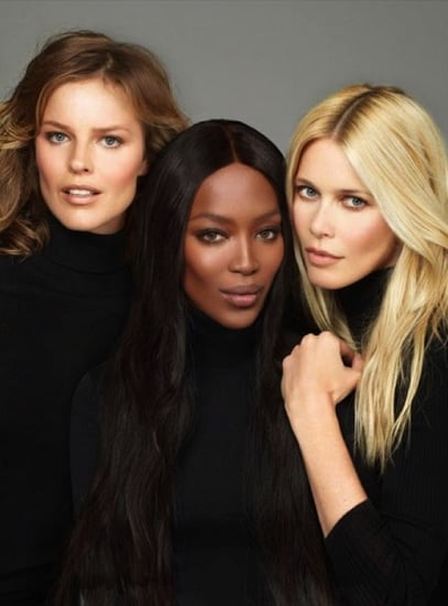 Eva Herzigova, Naomi Campbell and Claudia Schiffer for Vogue Turkey