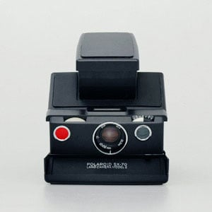 Polaroid Camera SX-70 Black Label Edition Pictures