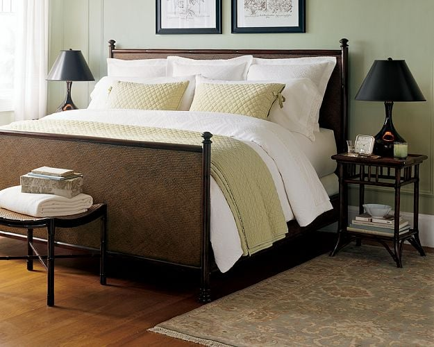 steal of the day pottery barn classic rattan bed. Black Bedroom Furniture Sets. Home Design Ideas