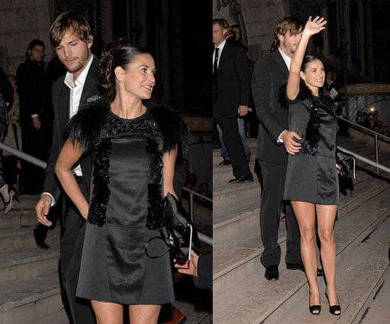 Demi and Ashton Party with Prada