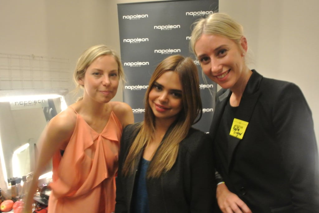 Ali, Samantha and Alison following our interview.