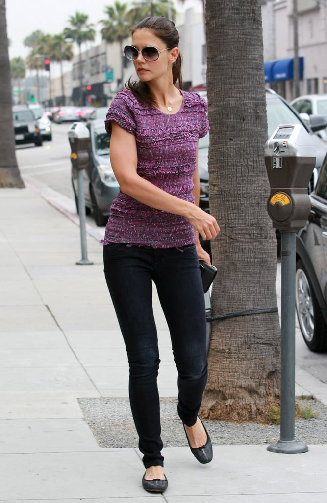 Katie Holmes Grabs Breakfast on the Go at Her Favorite Spot