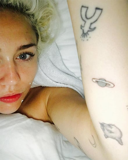 Oops! Miley Cyrus Adds a 'Jupiter' Tattoo to Her Growing Ink Collection - But Wait, It's Actually Saturn