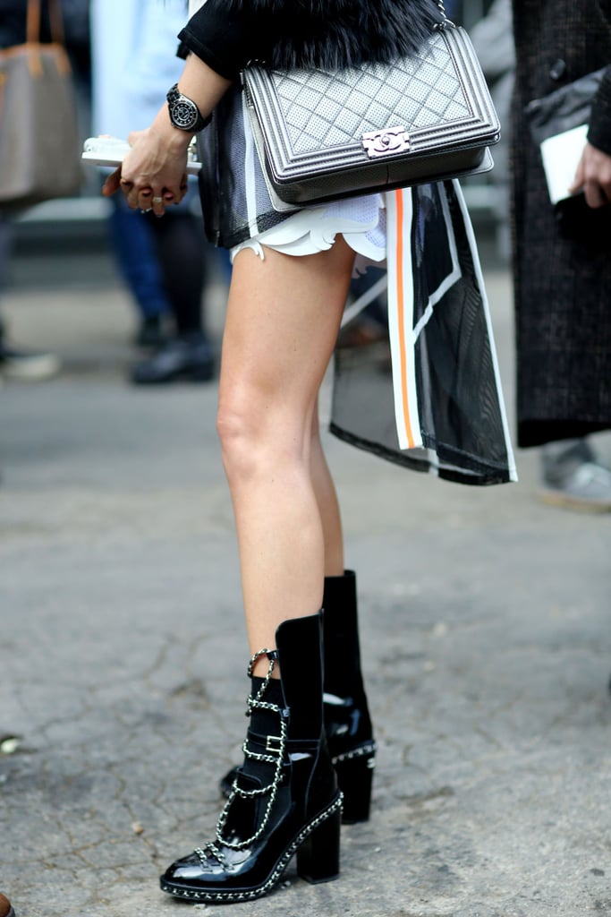 Armed with luxe Chanel add-ons.  Source: Tim Regas