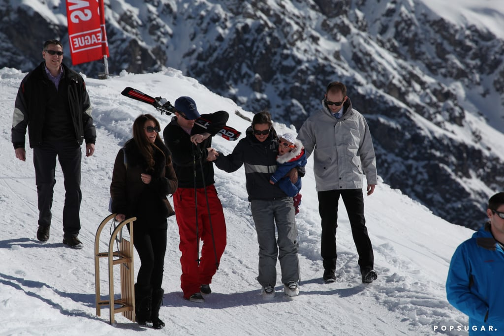 Kate Middleton hit the slopes with a group of friends.