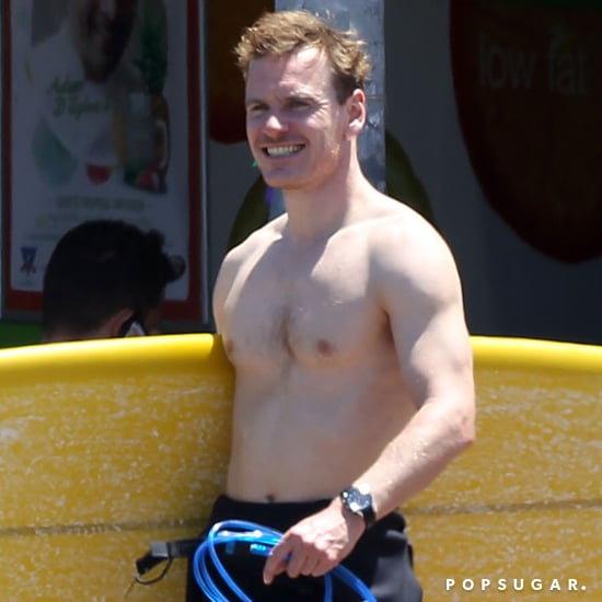 Michael Fassbender Shirtless at Bondi Beach | Pictures