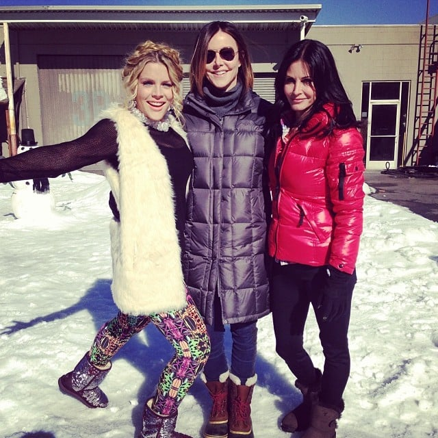 Busy Philipps was stoked to get back to work on Cougar Town. Source: Instagram user busyphilipps