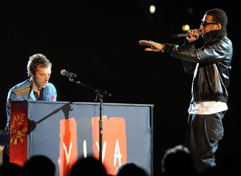 Jay Z joined Coldplay on stage in 2009.