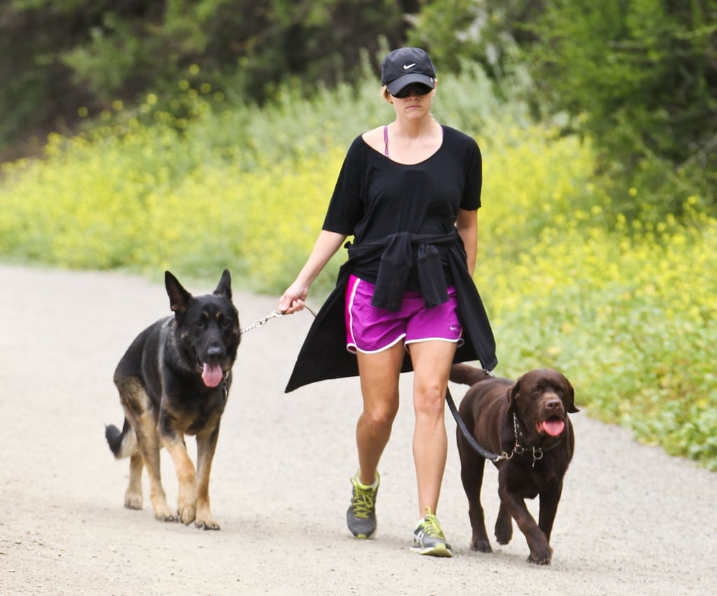 Reese Witherspoon Takes Her Pups and Pregnant Belly For a Hike