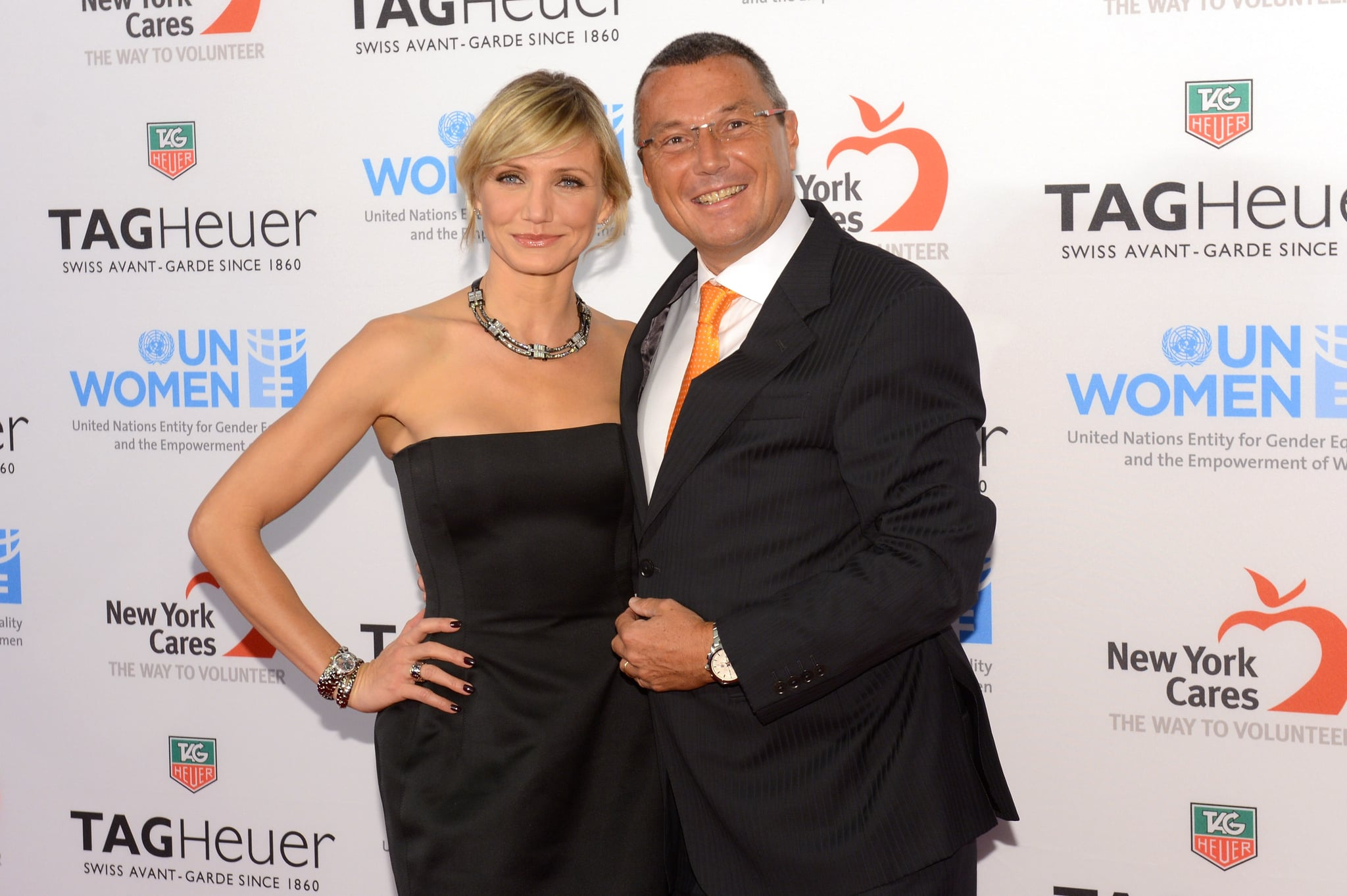 Cameron Diaz and the President and CEO of TAG Heuer Jean-Christophe Babin attended A Night Under the Stars in NYC.