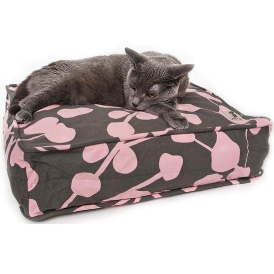 la vie en rose cat duvet, square ($20)