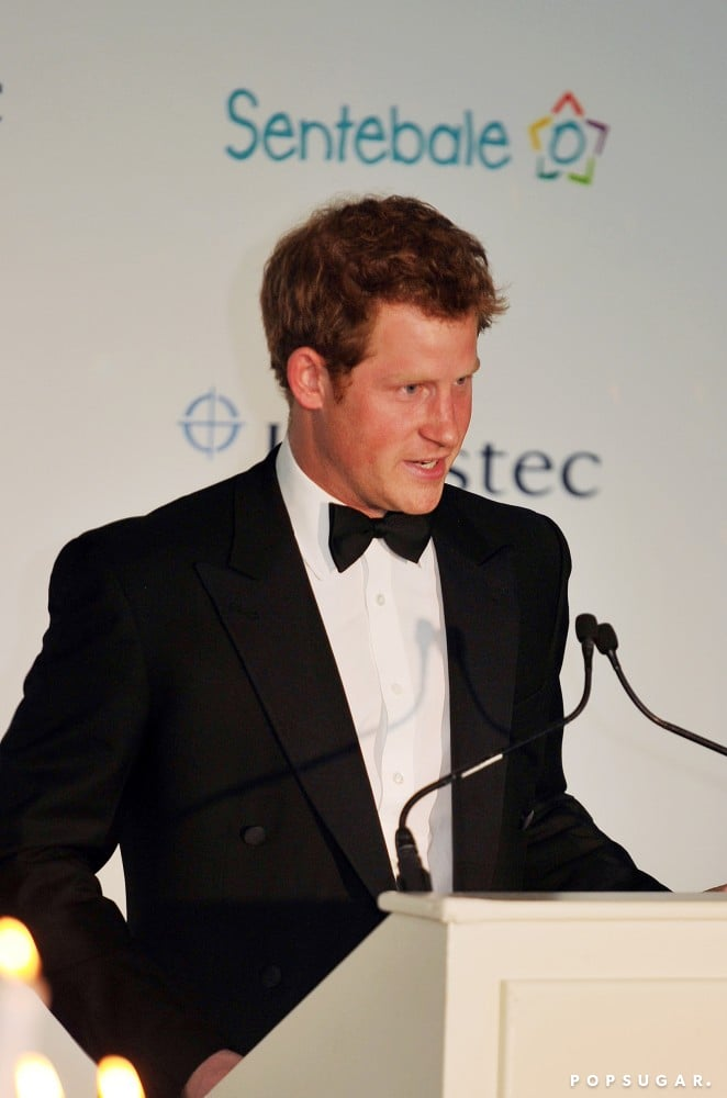 Prince Harry gave a speech during the Sentebale Gala.