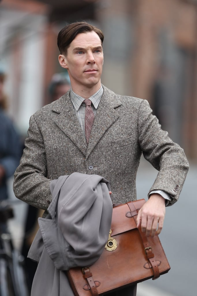 Benedict Cumberbatch got to work on The Imitation Game in London on Wednesday.