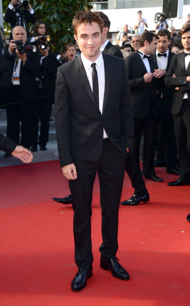 Robert Pattinson looked happy to attend the On the Road premiere at the Cannes Film Festival.