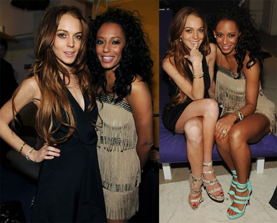 Photos of Lindsay Lohan and Mel B at the Opening of Peepshow in Las Vegas