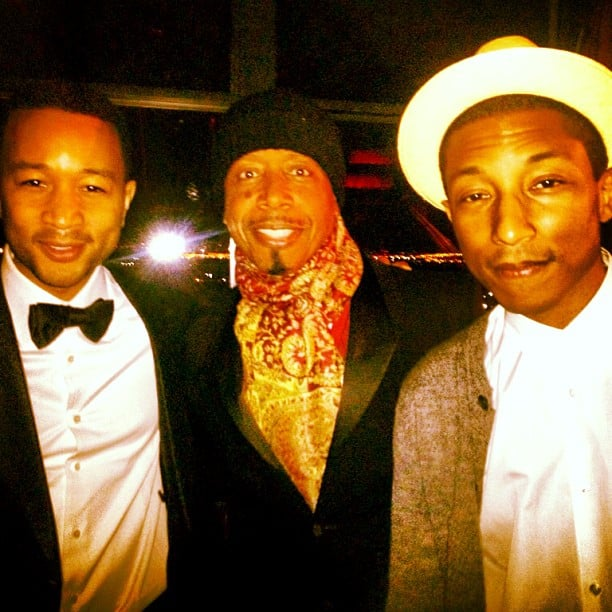 John Legend, MC Hammer and Pharrell Williams posed together at the Inaugural Ball. Source: Instagram user mchammer