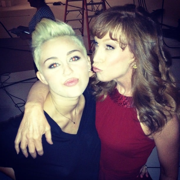 "Kathy Griffin posed with her ""biggest fan"" Miley Cyrus. Source: Instagram user kathygriffin"