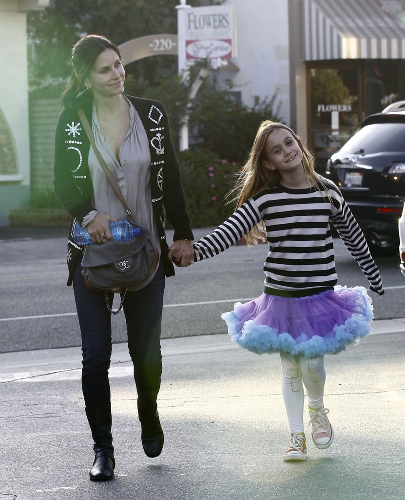 Courteney Cox and Coco Arquette shopped and lunched.