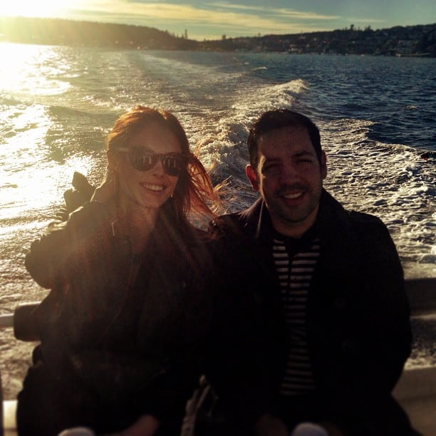 Coco Rocha and her husband, James Conran, sailed the Sydney Harbour in Australia. Source: Instagram user cocorocha