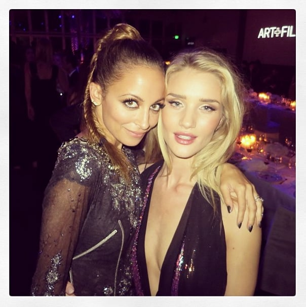 Nicole Richie and Rosie Huntington-Whiteley posed together at the LACMA Art and Film gala. Source: Instagram user rosiehw