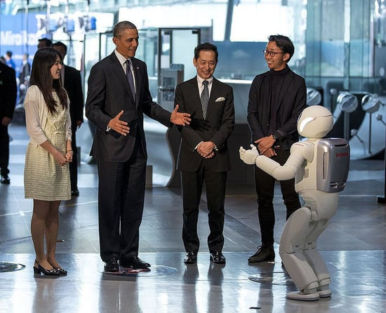 President Obama Plays Soccer With Robot | Video