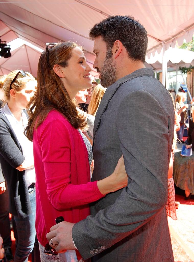 Jennifer Garner and Ben Affleck kissed at the John Varvatos 10th annual Stuart House Benefit in LA in March 2013.