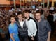 Shailene Woodley, Ansel Elgort, John Green, and Nat Wolff greeted thousands of screaming fans who came out for the first stop on their The Fault in Our Stars tour on Tuesday in Miami.