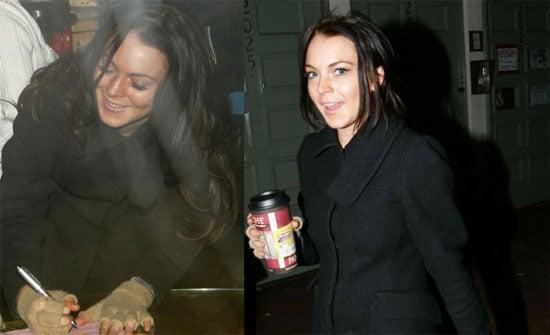 Lohan Nurses Her (Not-Booze) Addiction