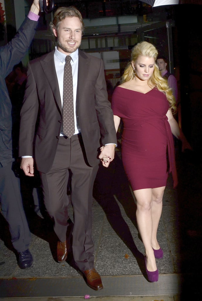 Jessica Simpson and Eric Johnson held hands in NYC.