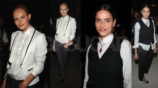 Kate & Amanda Go Annie Hall For Fashion Week