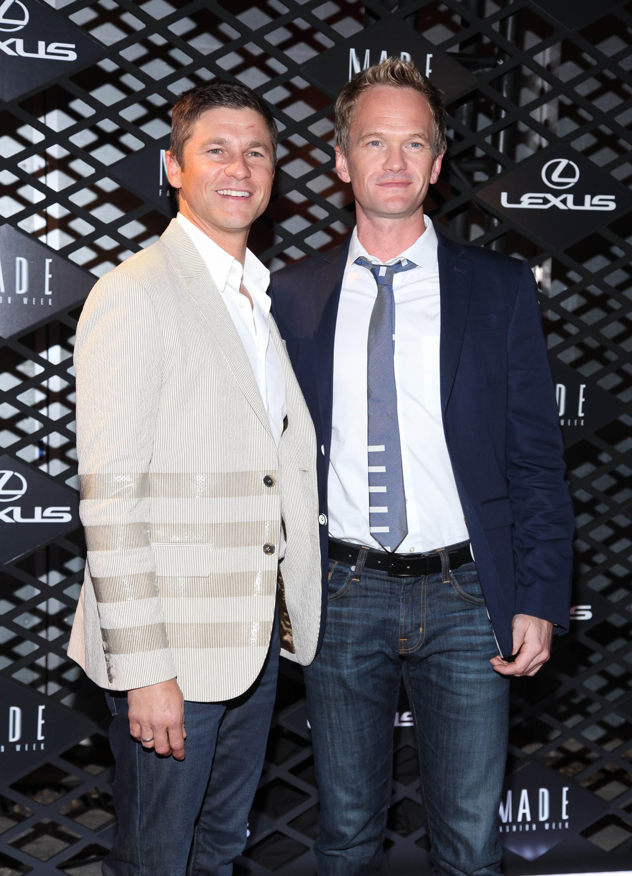 Neil Patrick Harris and David Burtka made a cute couple at the Lexus event on Thursday.