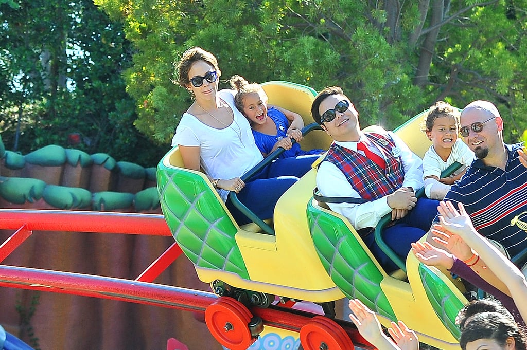 Jennifer Lopez brought her twins, Max and Emme, to Disneyland.