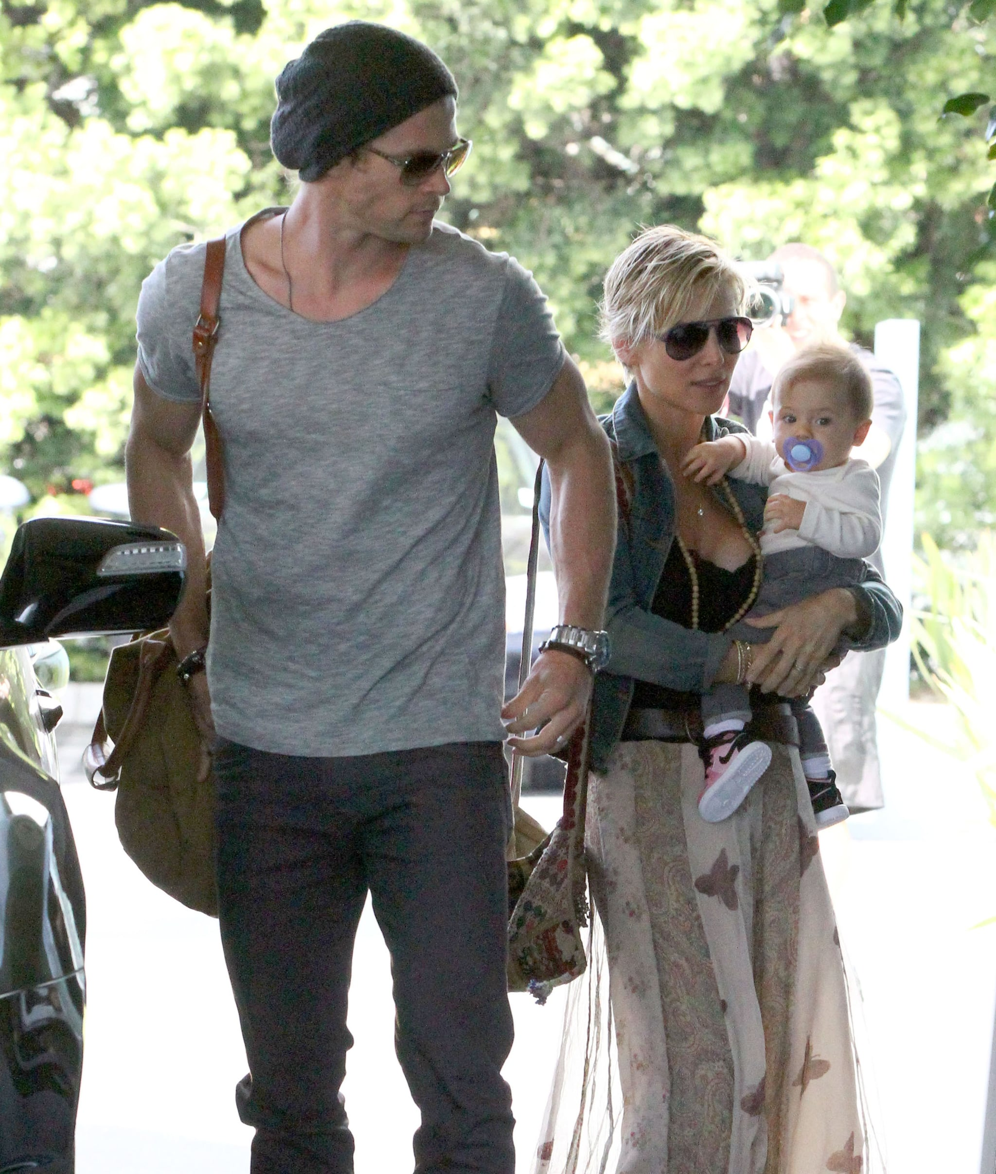 Chris Hemsworth spent time with his wife, Elsa Pataky, and daughter India Hemsworth in Santa Monica on Saturday.