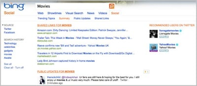 Bing Social Recommendations