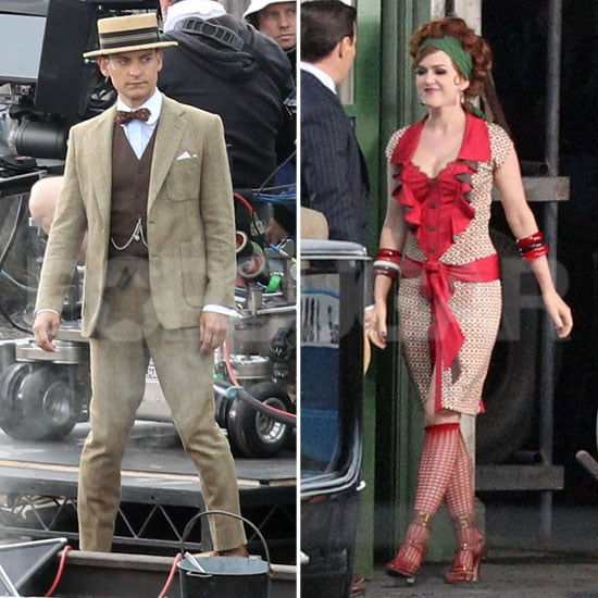 Isla Fisher and Tobey Maguire Get Dressed Up For The Great Gatsby