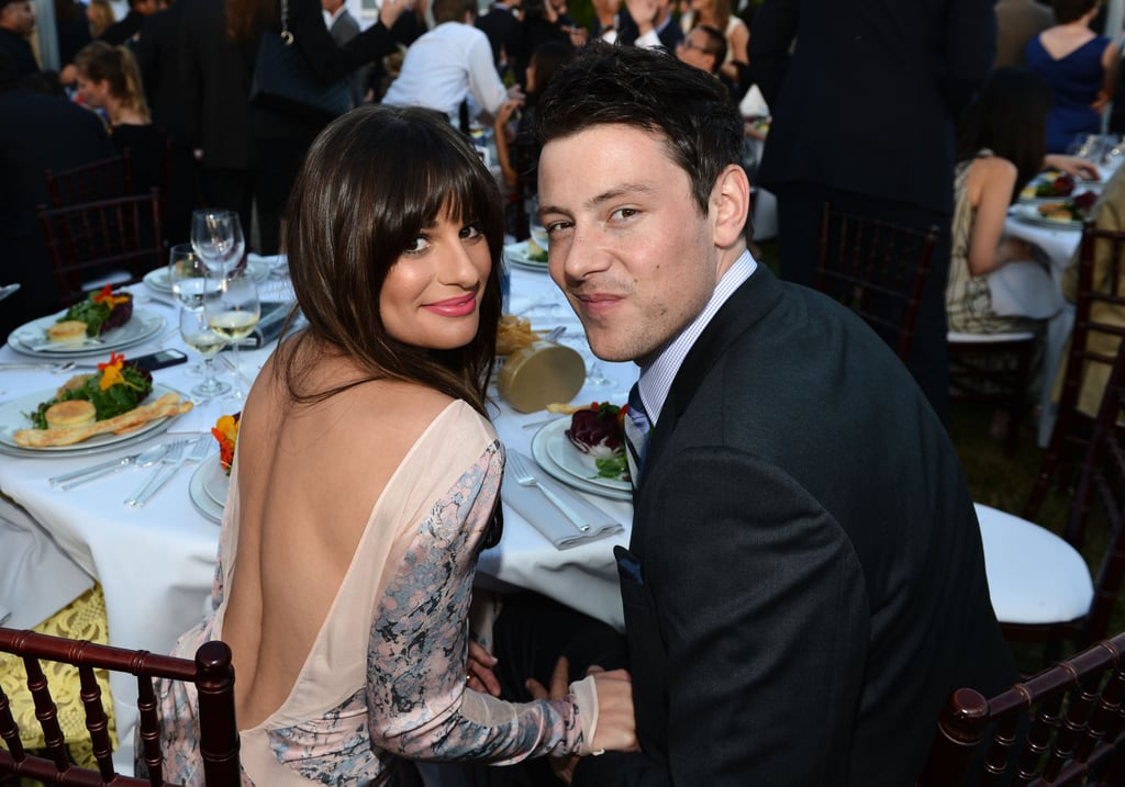 Lea Michele and Cory Monteith got close at the 2012 Chrysalis Butterfly Ball.