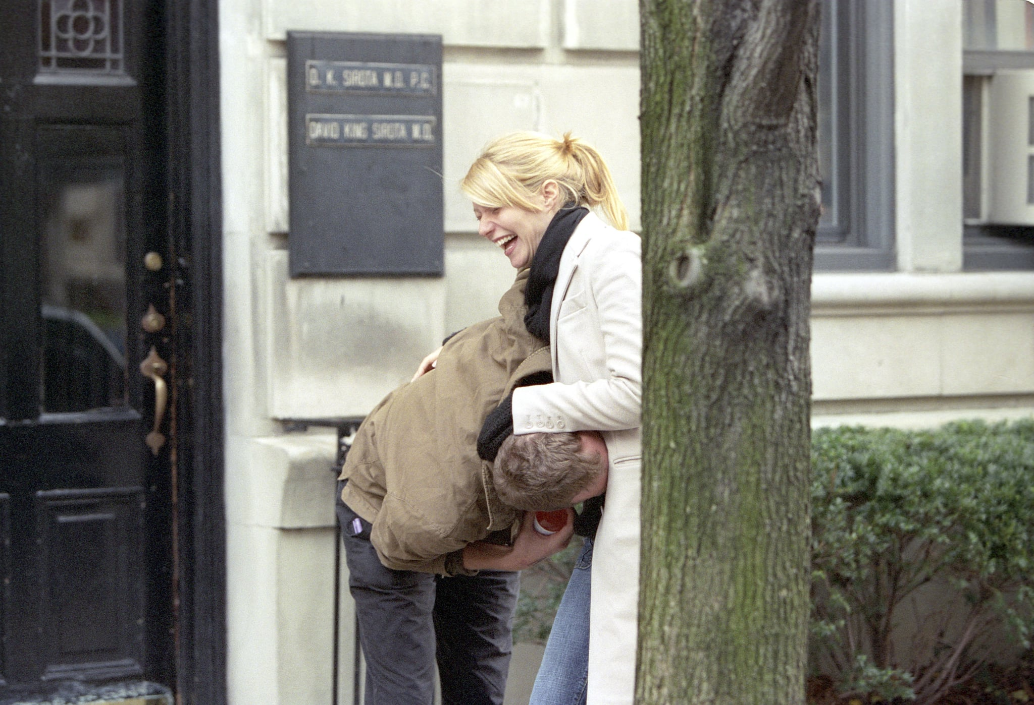 When Chris got playful with Gwyneth's baby bump in 2003.