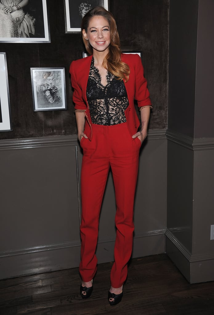 Analeigh Tipton attended a private Elie Saab dinner in NYC.